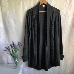 SAKS FIFTH AVENUE Threads Gray Open Front Cardigan